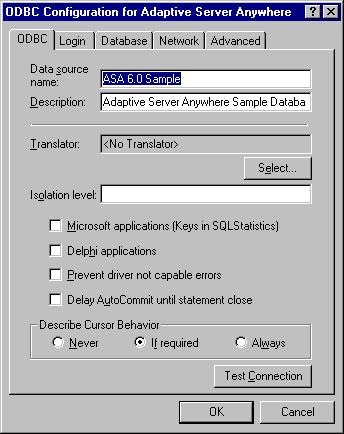 sybase adaptive server iq odbc driver